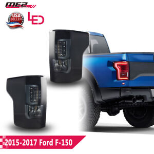 Winjet Oe Factory Fit For 2015 2017 Ford F 150 Led Brake Tail Lights Smoke