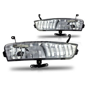 For 07 11 Hyundai Accent Fog Lights Clear Front Driving Lamps Pair
