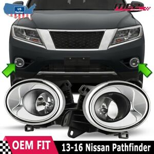 For 13 16 Nissan Pathfinder Factory Fit Fog Light Bumper Wiring Kit Clear Lens
