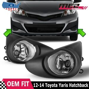 For 2012 2014 Toyota Yaris Winjet Oe Factory Fit Fog Light Bumper Kit Clear Lens