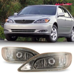 For 2002 2004 Toyota Camry Winjet Oe Factory Fit Fog Light Bumper Kit Clear Lens