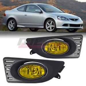 For 2005 2007 Acura Rsx Winjet Oe Factory Fit Fog Light Bumper Kit Yellow Lens