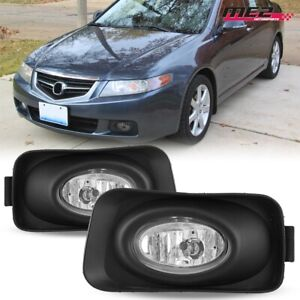For 2004 2005 Acura Tsx Oe Factory Fit Fog Light Bumper Kit Clear Lens