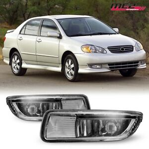 For 2003 2004 Toyota Corolla Winjet Oe Factory Fit Fog Light Bumper Clear Lens