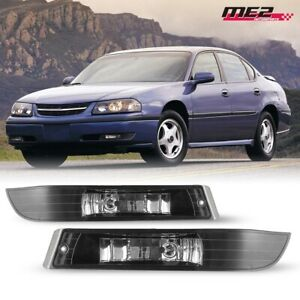 For 2000 2005 Chevy Impala Pair Oe Factory Fit Fog Light Bumper Clear Lens