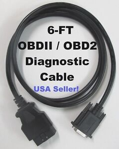 Obd2 Obdii Data Cable For Actron Super Autoscanner Cp9145 Cp9150 Code Reader
