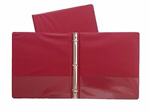 Burgundy Vinyl Standard 3 ring Binders 1 inch For 8 5 X 11 Sheets 4 Pack