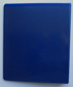 Dark Blue 3 Ring 1 5 View Binder 8 5 X 11 Pack Of 6