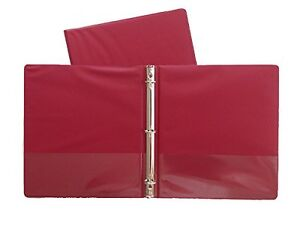 Burgundy Vinyl Standard 3 ring Binders 1 inch For 8 5 X 11 Sheets 3 Pack