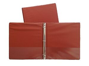 Burnt Orange Standard 3 ring Binders 1 inch For 8 5 X 11 Sheets 4 Pack