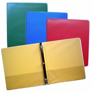 Blue Green Red And Yellow 3 ring Binders 1 5 Inch Capacity 8 5 X 11 Box Of 4