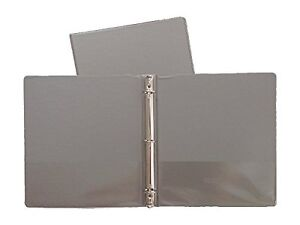 Gray Vinyl Standard 3 ring Binders 1 2 inch For 8 5 X 11 Sheets 4 Pack