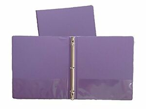 Grape Vinyl Standard 3 ring Binders 1 inch For 8 5 X 11 Sheets 4 Pack