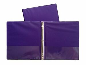 Purple Vinyl Standard 3 ring Binders 1 5 inch For 8 5 X 11 Sheets 4 Pack