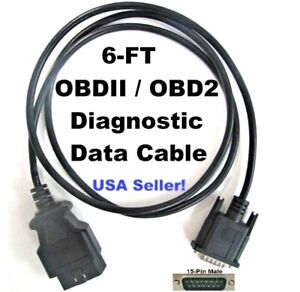 Obd2 Obdii Scanner Data Cable 4 Actron Trilingual Elite Autoscanner Pro Cp9690