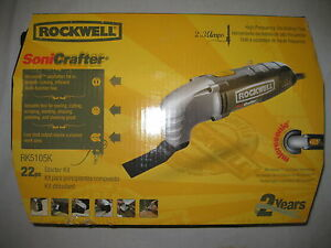 New Rockwell Sonicrafter Rk5105k Hf Vs Oscillating Tool Electric 22 Pc Kit