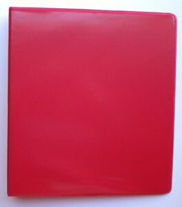 Red 3 Ring 1 View Binder 8 5 X 11 Box Of 12
