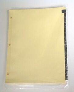 A To Z Index Dividers For 8 1 2 X 11 Inch 3 ring Binder With Gold Lettering On