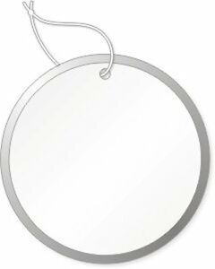 Round Tags With Metal Rims 1 1 4 Inch White With Knotted String Attached