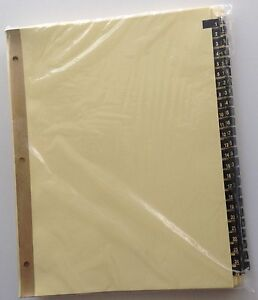 Ring Book Index Dividers Numbered 1 100 Gold On Black Leather Tabs For8 5 X 11