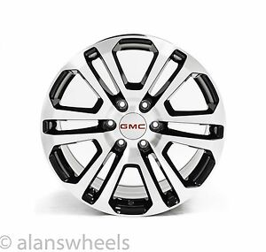 New Gmc Sierra Yukon Denali Machined Black 20 Wheels Rims Lugs Ck158 Free Ship