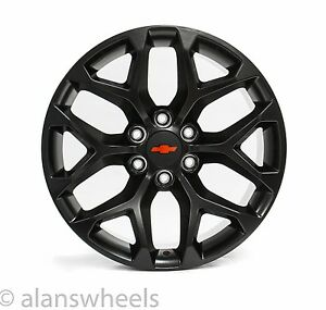 4 New Chevy Suburban Tahoe Matte Black Red Bowtie 20 Wheels Rims Free Ship 5668