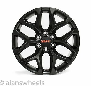 4 New Gmc Sierra Yukon Denali Matte Black 20 Wheels Rims Lugs Free Ship 5668