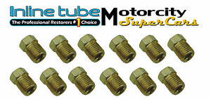 3 8 24 Inverted Flare Gold Zinc Tube Nut Fitting 3 16 Steel Brake Line Tubing 12
