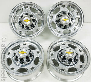 4 New Chevy Silverado Suburban 2500 Polished 16 Wheels Rims Free Shipping 5079