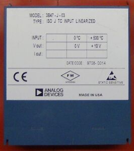 Analog Devices 3b47 j 03 Isolated Linearized J type Thermocouple Input Module