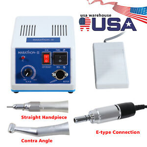 Marathon Dental Lab Electric Polishing Micromotor 35k Rpm Motor Handpiece In usa