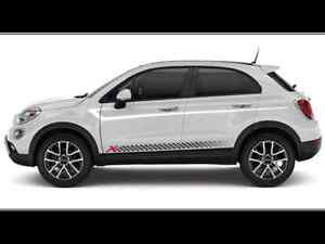 2016 Fiat 500x New Racing Checkerboard Red X Bodyside Graphic Mopar Factory Oem