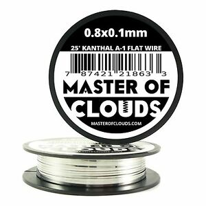 25 Ft 0 8 X 0 1 Mm Flat Ribbon Kanthal A 1 Resistance Wire Spool A1 25 Roll