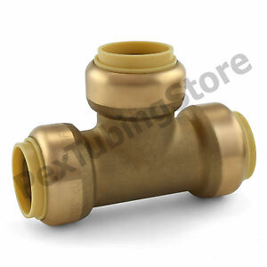 10 3 4 Sharkbite Style push fit Push To Connect Lead free Brass Tees