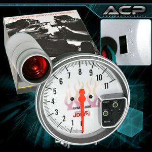 Performance White 5 Tachometer 7 Led Display Shift Light Gauge Ford Mustang