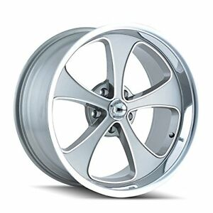 Ridler Style 645 Grey Wheel With Machined Face polished Lip 20x10 5x120 65mm