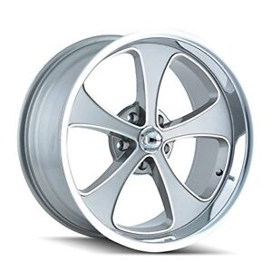 Ridler Style 645 Grey Wheel With Machined Face Polished Lip 17x7 5x114 3mm