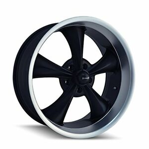 Ridler Style 695 Wheel With Matte Black Finish 17x8 5x120 65mm