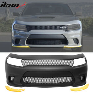 Fits 15 18 Dodge Charger Srt8 Style Hellcat Conversion Front Bumper Cover Pp