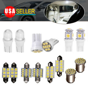 14x White Led Interior Package Kit T10 31mm Dome Map License Brake Lights Bulbs