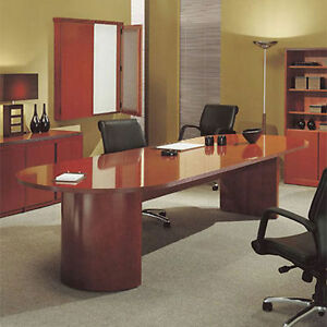 6ft 12ft Racetrack Conference Table Office Meeting Room Hardwood 8 10 Foot New