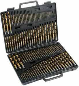 115 Pc Titanium Coated Drill Bit Set High Speed Steel W Index Carrying Case