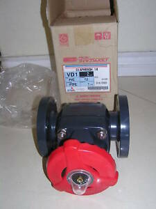 Asahi Type 14 Flanged Globe 2 Diaphragm Valve New Ptfe Pvc