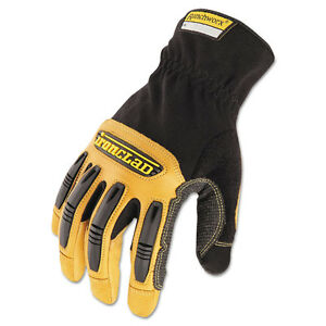 ironclad Ranchworx Leather Gloves Black tan Large Irnrwg204l