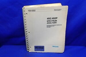 Tektronix 492 492p Spectrum Analyzer Service Manul Vol 2 070 3784 01
