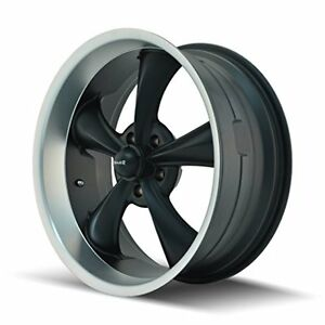 Ridler Style 695 695 Matte Black Wheel With Machined Lip 20x8 5 5x127mm