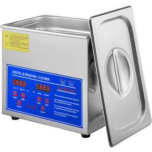 New Pro 3 Liters Ultrasonic Cleaners Cleaning Equipment Jewelry