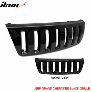 Fits 99 03 Jeep Grand Cherokee Wj Front Black Hood Grill Grille H2