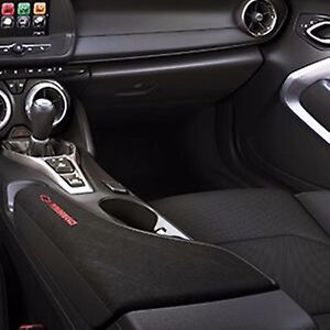 2016 2018 Camaro Black Suede Center Console Lid With Red Performance Script