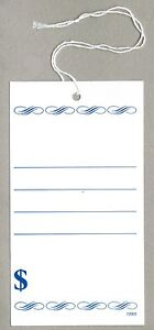 Blue Price Tags With Knotted Strings 3 X 5 Inches Box Of 500 P72003